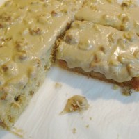 Buttermilk Walnut Snack Cake with Penuche Frosting