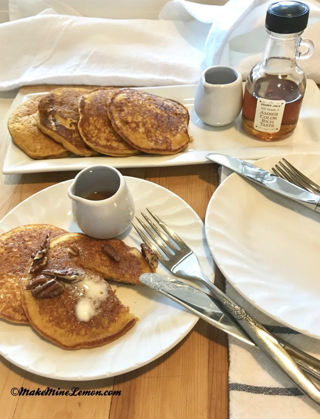 Gluten-Free Pumpkin Pancakes Breakfast