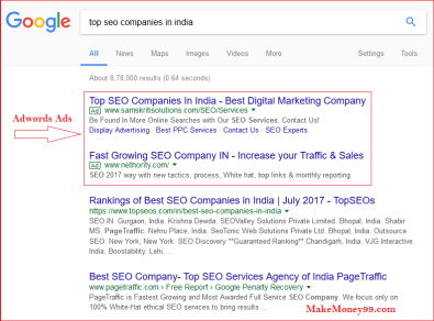 Google Adwords ads Example