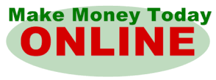 Make Money Today online on green circle