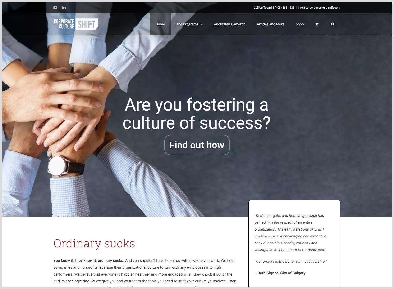 Corporate Culture Shift Website