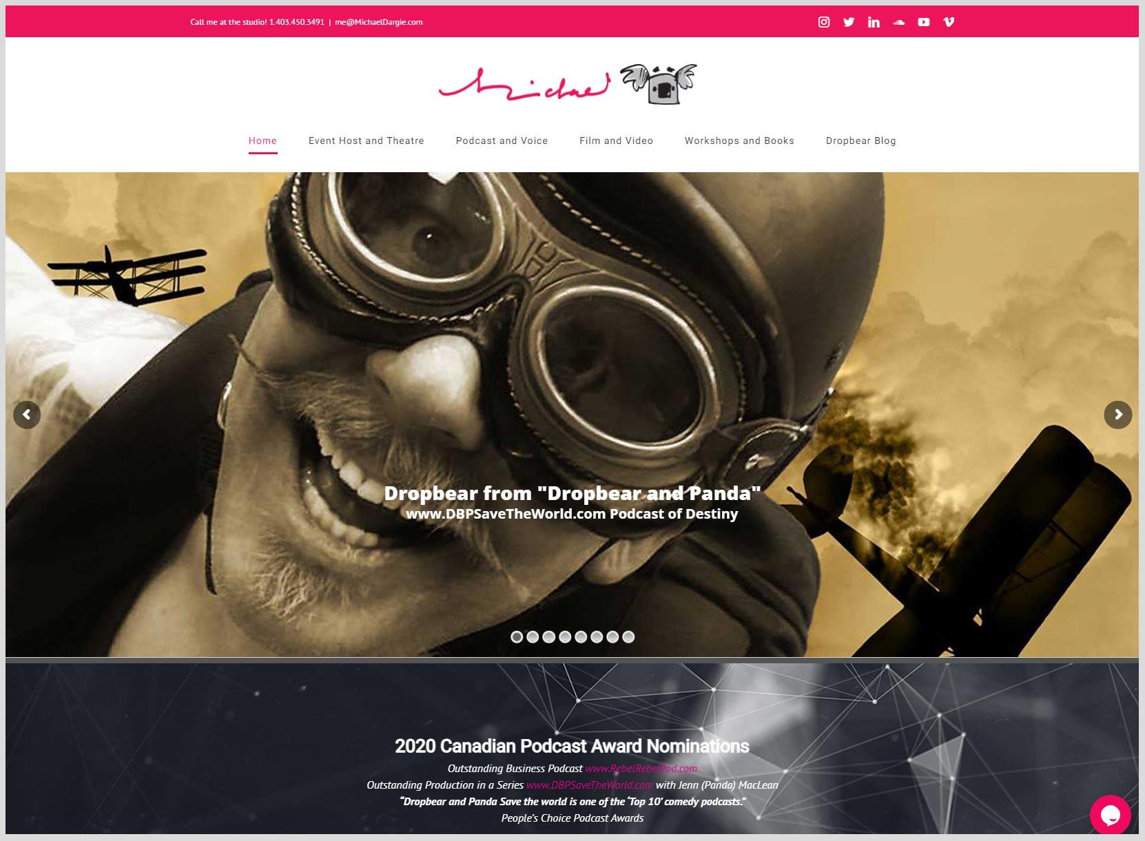 Michael Dargie Website