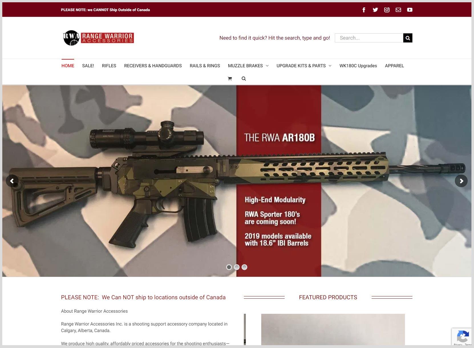Range Warrior Accessories Website