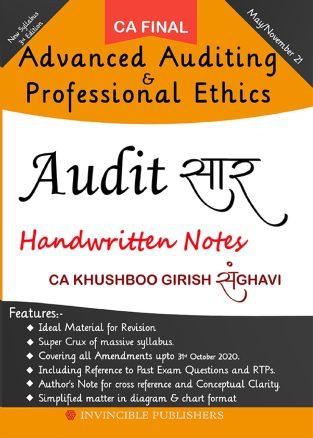 CA Final Audit सार New Syllabus By CA Khushboo Sanghavi