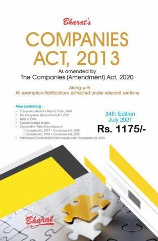 Bharat Companies Act 2013 Edition July 2021 Bharat