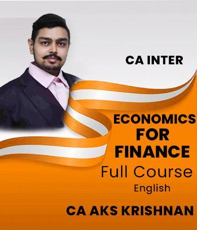 Video Lecture CA Inter Economics for Finance CA AKS Krishnan
