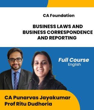 Video Lecture CA Foundation BLBCR Punarvas Jayakumar Ritu Dudhoria