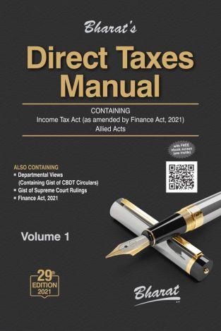 Bharat Direct Taxes Manual 3 Volumes Set Edition 2021