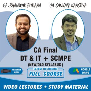 Video Lecture Combo CA Final Direct Tax & Costing Bhanwar Borana