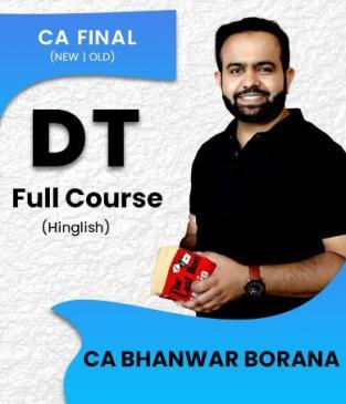 CA Final Direct Tax & International Taxation Hindi Bhanwar Borana