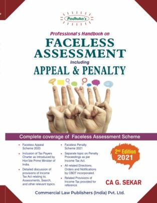 Padhuka Professional Handbook on Faceless Assessment CA G.Sekar