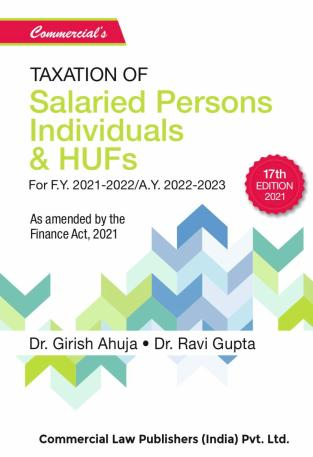 Commercial Taxation of Salaried persons Individuals HUF Girish Ahuja