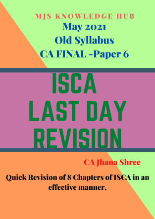 CA Final Information Systems Control Audit By MJ Shree Last Day Revision