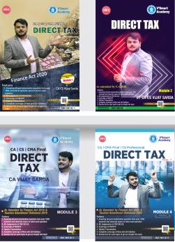 CA Final Direct Tax Regular Course Book Set by CA Vijay Sarda
