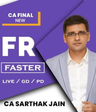 Video Lecture CA Final FR Faster Live Batch New By CA Sarthak Jain