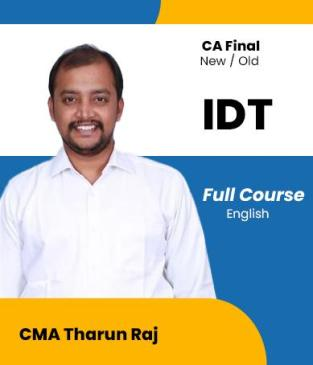 Video Lecture CA Final Indirect Tax Laws New Syllabus By Tharun Raj