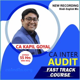 Video Lecture CA Inter Audit Fast Track Full Course By Kapil Goyal