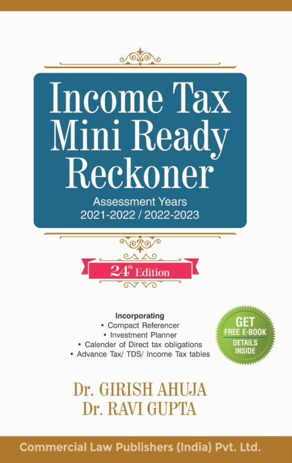 Commercial Income Tax Mini Ready Reckoner By Dr Girish Ahuja