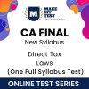 CA Final Direct Tax Laws New Syllabus Online Test Series