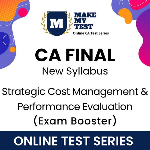 CA Final Strategic Cost Management New Syllabus Online Test Series