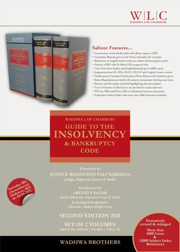 Guide to the Insolvency & Bankruptcy Code By Wadhwa Law Chambers