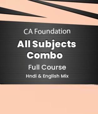Video Lectures Combo CA Foundation All Subjects Regular Batch