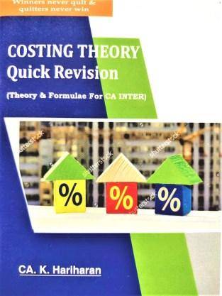 CA Inter Costing Theory & Formulae Quick Revision By CA K Hariharan