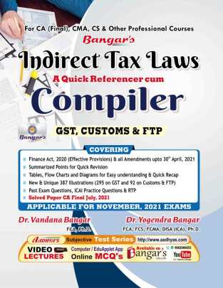 Aadhya Prakashan CA Final Indirect Tax Laws Compiler Yogendra Bangar