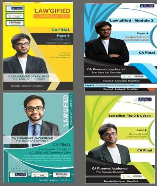 CA Final Corporate and Economic Laws 4 book CA Punarvas Jayakumar