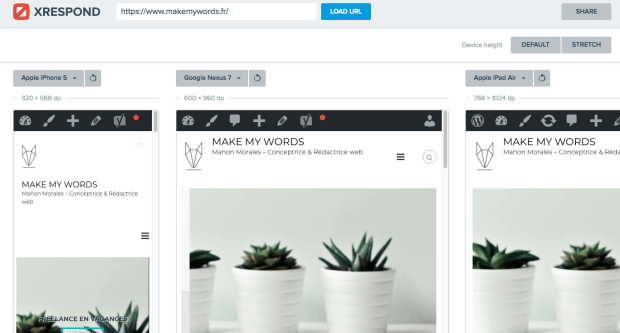 outils site responsive