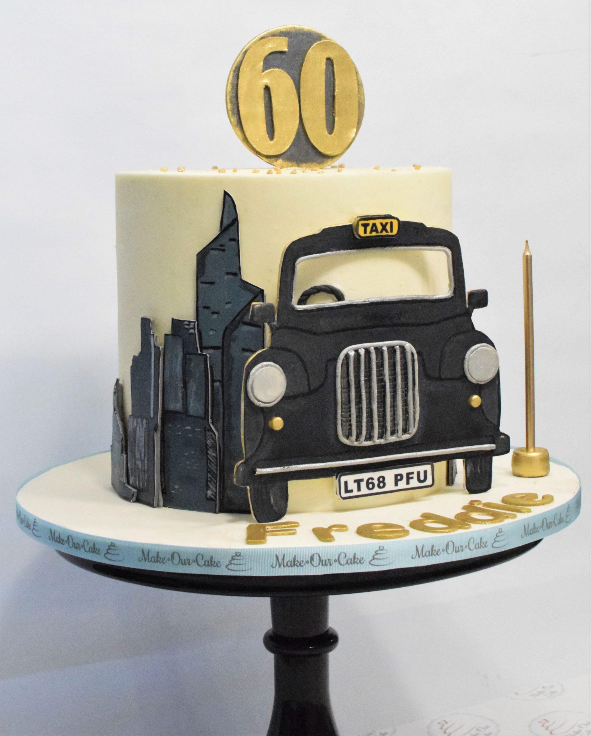 Black Cab Themed Cake
