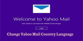 Change Yahoo Mail Country Language