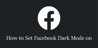 How to Set Facebook Dark Mode on