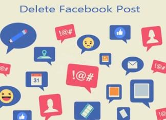 Delete Facebook Post