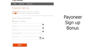 Payoneer Sign up Bonus
