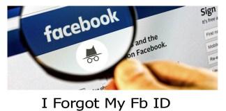 I Forgot My Fb ID