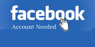 Facebook Account Needed