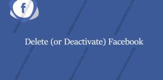Delete (or Deactivate) Facebook