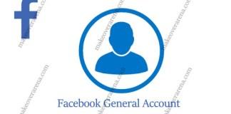 Facebook General Account