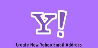 Create New Yahoo Email Address