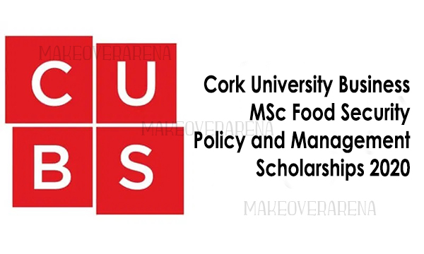 Cork University Business MSc Food Security Policy and Management Scholarships 2020