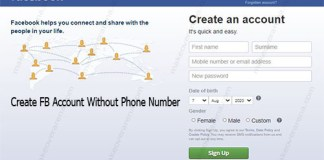 Create FB Account Without Phone Number
