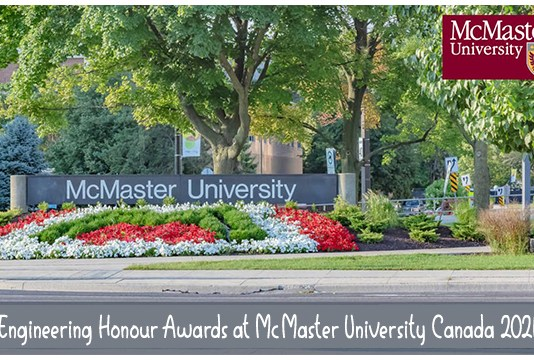 Engineering Honour Awards at McMaster University Canada 2021