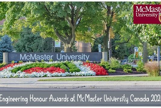 Engineering Honour Awards at McMaster University Canada 2021