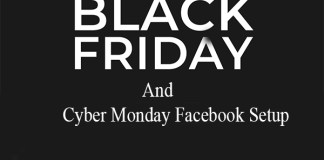 Black Friday and Cyber Monday Facebook Setup