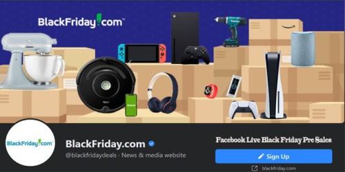 Facebook Live Black Friday Pre Sales
