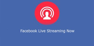 Facebook Live Streaming Now