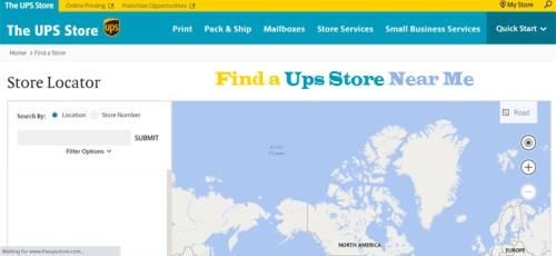 Find a UPS Store Near Me