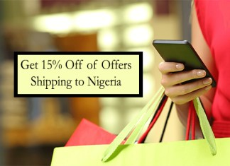 Get 15% Off of Offers Shipping to Nigeria