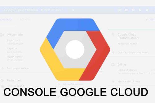 Console Google Cloud